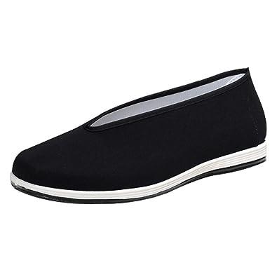 GongzhuMM Mocassins Homme Décontractées Chaussures Plates Respirantes  Chaussures en Tissu Espadrilles pour Tai Chi Kung 6acb575a0d50
