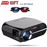 Vivibright GP100 Video Projector,3500 Lumens LCD 1080P Full-HD LED Portable Multimedia Home Theater Projectors for Movie, TVs, Laptops, Games,DVD,PC,Laptop Support HDMI, USB, VGA, AV