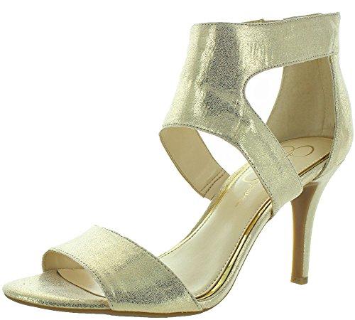 Jessica Simpson Mekos Women's Dress Sandals Heels Gold Size 10.5