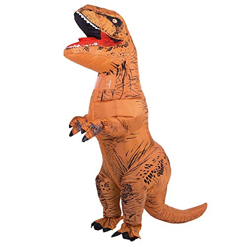 Adult T-Rex Dinosaur Inflatable Costume, Inflatable Dinosaur Suits Huge Blow Up T-Rex for Adults -