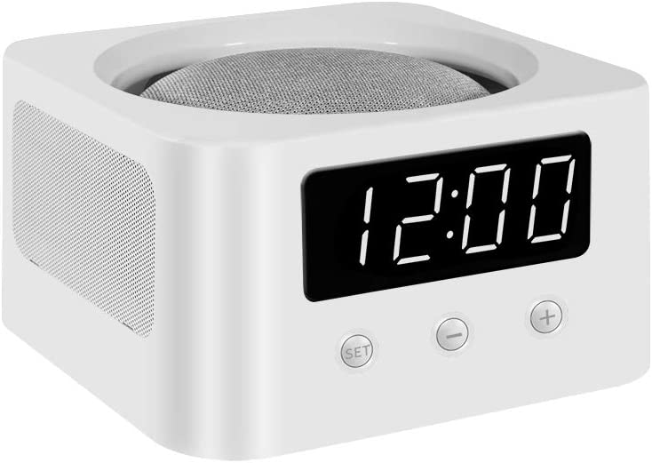 Clock Stand/Mount/Holder/Docking Station for Your Smart Speakers - White