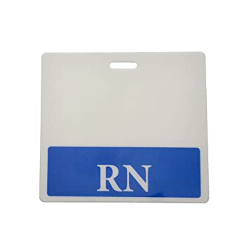 Amazon rn horizontal badge buddy with blue border by rn horizontal badge buddy with blue border by specialist id 1 pack sciox Choice Image