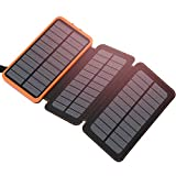 Solar Charger 24000mAh - ADDTOP Portable Charger 24000 Power Bank External Battery Pack Li-Polymer Phone Charger for iPhone - iPad - Samsung Galaxy and More