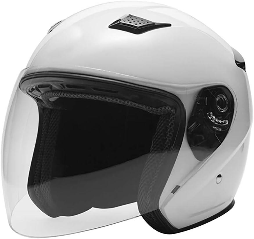 GWM オートバイヘルメットユニセックス - アダルト、マットブラックヘルメット(ヘルメットの3/4) (サイズ さいず : XXL: 63-64CM)  XXL: 63-64CM