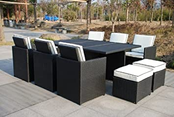 rattan 6 10 seater cube rattan outdoor garden furniture set