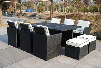 Delicieux Rattan 6   10 Seater Cube Rattan Outdoor Garden Furniture Set