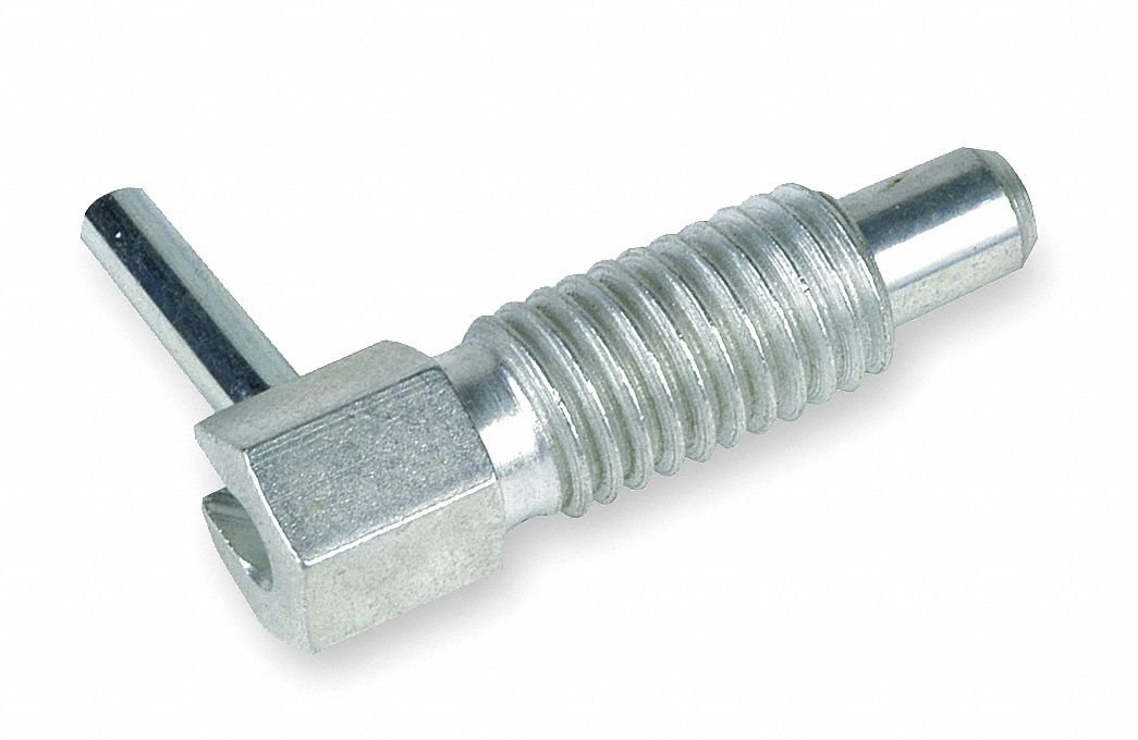 Plunger, Hand W/Out Lock, 1/4-20, PK2 by TE-CO (Image #1)