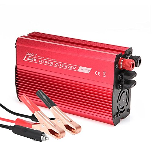IABOLT 600W Power Inverter, DC 12V to 110V AC Car Inverter with 4.2A Dual USB Car Adapter