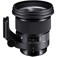 Sigma 259954 105mm f/1.4-16 Standard Fixed Prime Camera Lens, Black