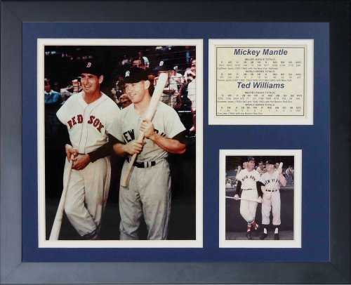 "Legends Never Die ""Mickey Mantle and Ted Williams Framed Photo Collage, 11 x 14-Inch"
