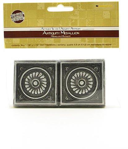 Diamond Tech Antiquity Mosaic Tiles (Antique Silver Medallion) 2 pcs sku# 1846625MA from Diamond Tech