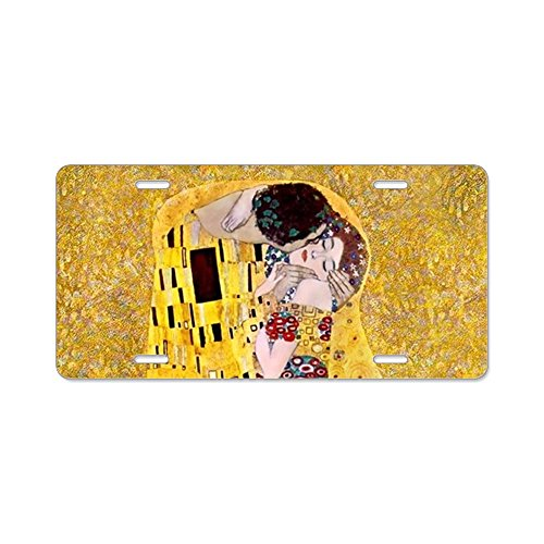 - CafePress - Klimt The Kiss Lovers - Aluminum License Plate, Front License Plate, Vanity Tag