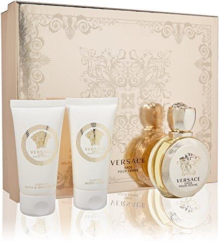 Versace Eros Pour Femme for Women 3 Piece Gift ()