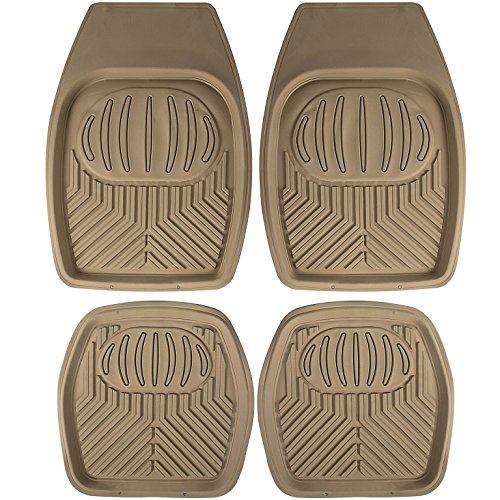 Johns Fmc 24  4Pc Set  Beige All Weather Rubber Floor Mats