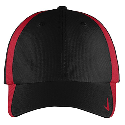 Nike Authentic Sphere Quick Dry Low Profile Swoosh Embroidered Adjustable Cap - BLACK RED