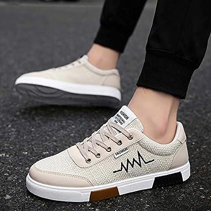 012dfece70bac Amazon.com: NANXIEHO Flax Cloth Shoes Trend Canvas Shoes Autumn and ...