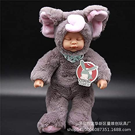 Amazon.com: Muñeca de peluche con diseño de elefante y texto ...