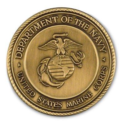 SpartaCraft Service Medallion Marine Corps (Shadow Box Logo Display Case)