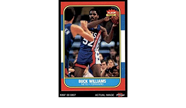 5db321f93 Amazon.com  1986 Fleer   123 Buck Williams New Jersey Nets (Basketball Card)  Dean s Cards 7 - NM Nets  Collectibles   Fine Art