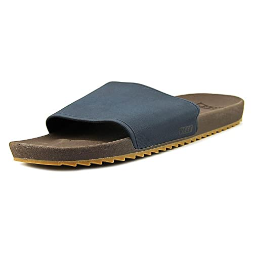 808e87a724d8 Reef Mens Slidely Brown Blue Slip on Sliders Flip Flop Sandals Size 11   Amazon.co.uk  Shoes   Bags