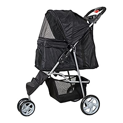 KARMAS PRODUCT 3 Wheels Elite Jogger Pet Cat,Dog,Stroller Folding Travel Carrier by Karmas Product