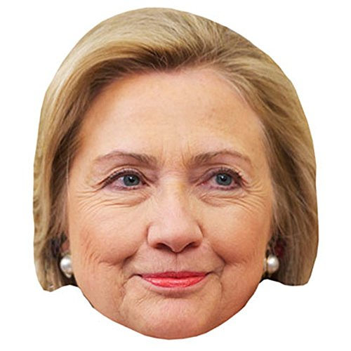 Hillary Clinton Celebrity Mask, Card Face and Fancy Dress Mask -