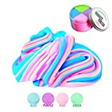 Fluffy Slime - Jumbo Floam Cloud Colorful Rainbow Slime Stress Relief Toy for Kids and Adults Soft Stretchy and Non-Sticky 7 oz