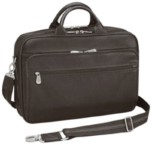 GTM Men's Gun Tote'n Mamas Concealed Carry Leather Briefcase, Dark Brown, Medium