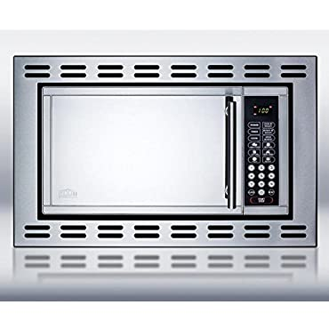 Summit Appliance 0.9 cu. ft. Built-In Microwave in Stainless Steel, Silver (OTR24)