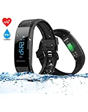 ELEGIANT Fitness Armband, Fitness Tracker Sport Uhr Fitness Uhr Schrittzähler Aktivitätstracker Smart Armbanduhr abziehbar Ladeanschluss mit Pulsmesser,Kalorienzähler, Schlafmonitor, Anruf Meldung