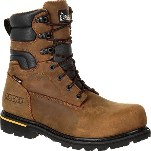 Rocky Men's 8'' Governor Composite Toe Waterproof Work Boots, Brown, 11 W -