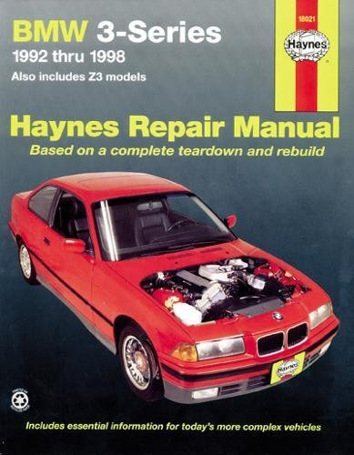 Bmw 3 Series Owners Manual - BMW 3Series, Including Z3, '92'98 (Haynes Repair Manuals)