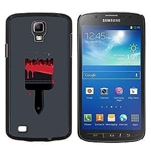 LECELL--Funda protectora / Cubierta / Piel For Samsung Galaxy S4 Active i9295 -- Pintura Pincel Rojo Arte Dibujo --