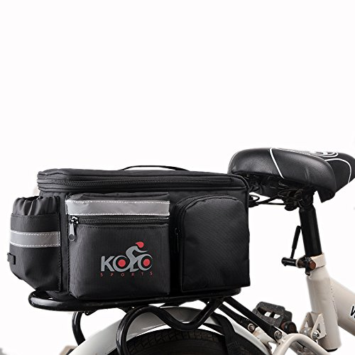 Best Price Bike Pannier Bag By Kolo Sports | Durable & Waterproof Nylon With Extra Padded Foam Botto...