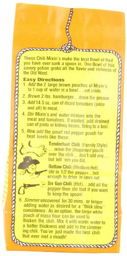 Amazon Com Six Gun Chili Mixins 4 Ounce Chili Mix Grocery Gourmet Food