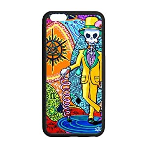 Canting_Good Tie Dye Colorful Mr Skull Custom Case Cover Shell for iPhone 5C TPU (Laser Technology)