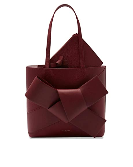 efac6d036e TED BAKER Alliie Giant Knot Leather Shopper Tote Bag, Maroon: Amazon.ca:  Shoes & Handbags