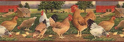 Roosters Wallpaper Border AFR7106