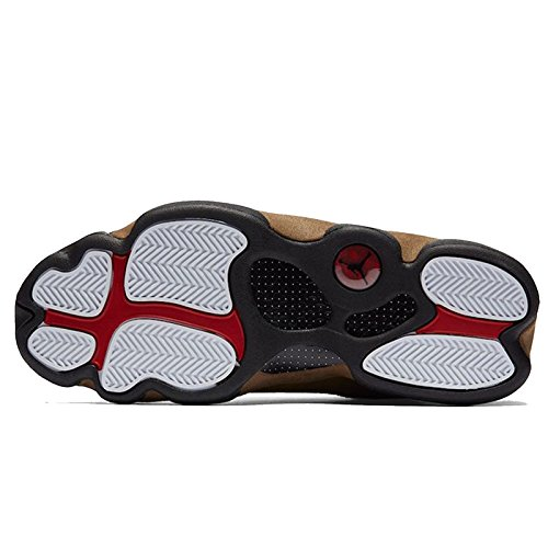 Jordan Air 13 Retro Olive Herren Lifestyle Retro Basketball Freizeitschuhe Schwarz / Gym Rotlicht Olive