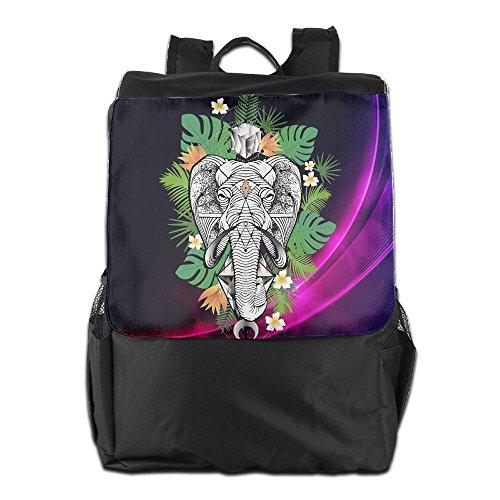 Tropical Desert Palm Elephant Cool Outdoor Men And Women Travel Backpack Travel Knapsack - Elephant Design Dubai