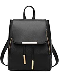 Fashion Shoulder Bag Rucksack PU Leather Women Girls...