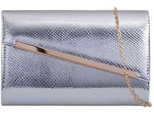 pour femme moyen Hautefordiva Silver Pochette noir EFq45PxWaw