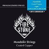Fire & Stone Mandolin Premium Coated, Copper Wound, light