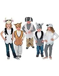 Nativity Costume Animal Slip-On Vest and Hat Sets