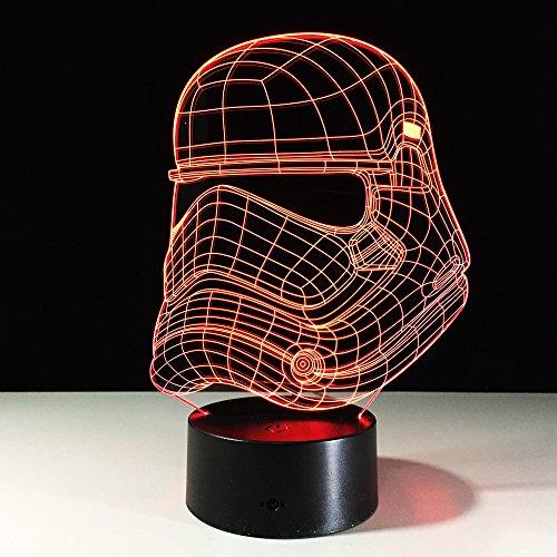3D Led Lamparas De Ilusion Óptica Caballero Planetario Lampara Nocturna 7 Colores Cambio Con Cables Usb Dormitorio Mesa De Comedor Decoracion Ninos Regalo De Navidad Lampara
