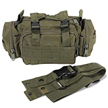 Sonline New Utility Tactical Waist Pack Pouch Military Camping Hiking Bag Outdoor Bag - green