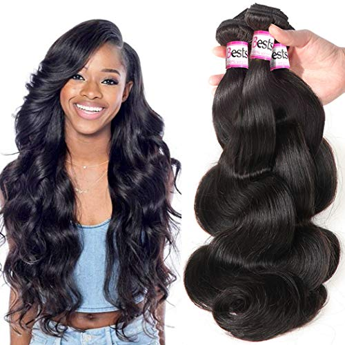 Bestsojoy 10A Brazilian Virgin Hair Body Wave 3 Bundles Remy Human Hair Weaves 100% Unprocessed...