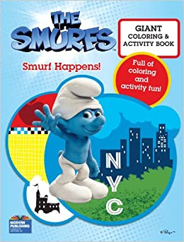 smurfs movie giant color book smurf happens modern publishing 9780766639850 amazoncom books - Giant Coloring Book