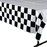 4 pack Black & White Checkered Tablecloth Race Party Supplies Racing Table Cover