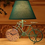 DMMSS Bicycle Lamp Clock Bedroom Bedside Table Lamps , 3